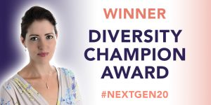 Kathryn named Diversity Champion 2020