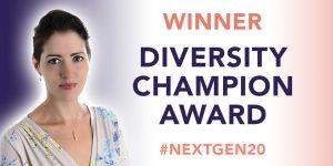 Kathryn named Diversity Champion 2020
