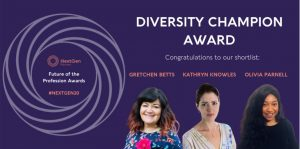 Kathryn is Shortlisted as a Diversity Champion