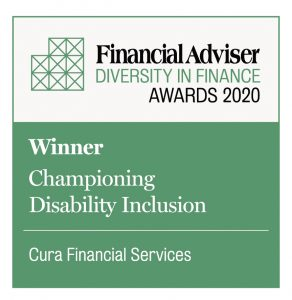 Cura win two Financial Adviser Diversity in Finance Awards 2020