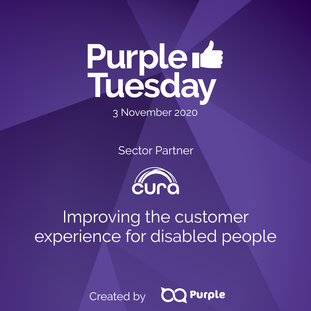 Cura are a Purple Tuesday 2020 Sector Partner